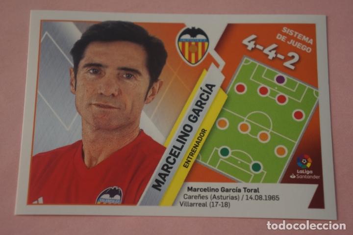 CROMO DE FÚTBOL MARCELINO DEL VALENCIA C.F. SIN PEGAR LIGA ESTE 2019-2020/19-20 (Coleccionismo Deportivo - Álbumes y Cromos de Deportes - Cromos de Fútbol)