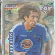 Cromos de Fútbol: FÚTBOL CROMO Nº 603 AZUL RAYAS PEDRO RÍOS GETAFE C.F. MUNDICROMO QUIZ GAME 2011 2012. Lote 180099885
