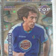 Cromos de Fútbol: FÚTBOL CROMO Nº 603 AZUL LETRAS PEDRO RÍOS GETAFE C.F. MUNDICROMO QUIZ GAME 2011 2012. Lote 180099955