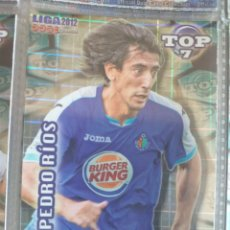 Cromos de Fútbol: FÚTBOL CROMO Nº 603 AZUL CUADROS PEDRO RÍOS GETAFE C.F. MUNDICROMO QUIZ GAME 2011 2012. Lote 180099980