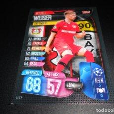 Cromos de Fútbol: 6 MITCHELL WEISER BAYER LEVERKUSEN CARDS UEFA CHAMPIONS Y EUROPA LEAGUE TOPPS ATTAX 19 20 2019 2020. Lote 180100143