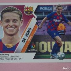 Cromos de Fútbol: CROMO DE FÚTBOL DE JONG DEL F.C. BARCELONA SIN PEGAR FICHAJE Nº 4 LIGA ESTE 2019-2020/19-20. Lote 180108282