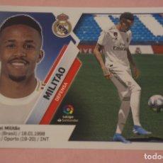 Cromos de Fútbol: CROMO DE FÚTBOL MILITAO DEL REAL MADRID C.F. SIN PEGAR FICHAJE 17 LIGA ESTE 2019-2020/19-20. Lote 180109097