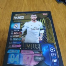 Cromos de Fútbol: CHAMPIONS TOPPS 2019 2020 LIMITED EDITION GOLD SERGIO RAMOS REAL MADRID. Lote 180160568