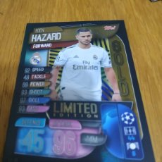 Cromos de Fútbol: CHAMPIONS TOPPS 2019 2020 LIMITED EDITION GOLD HAZARD REAL MADRID. Lote 180161100