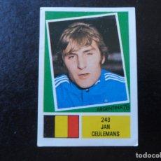 Cromos de Fútbol: JAN CEULEMANS Nº 245 BELGICA BELGIQUE BELGIE MUNDIAL ARGENTINA 78 WORLD CUP 1978 EDITORIAL FHER. Lote 180166173