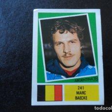 Cromos de Fútbol: MARC BAECKE Nº 241 BELGICA BELGIQUE BELGIE MUNDIAL ARGENTINA 78 WORLD CUP 1978 EDITORIAL FHER. Lote 180166317