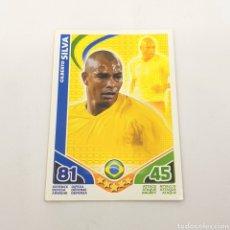 Cromos de Fútbol: (C-23) TOPPS MATCH ATTAX - WORLD CUP SUDAFRICA 2010 - (BRASIL) GILBERTO SILVA. Lote 180208516