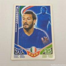 Cromos de Fútbol: (C-23) TOPPS MATCH ATTAX - WORLD CUP SUDAFRICA 2010 - (ITALIA) GIANLUCA ZAMBROTTA. Lote 180208615
