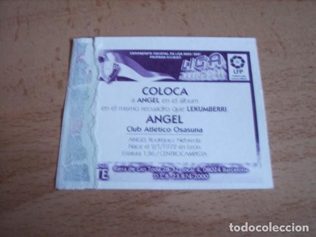 Cromos de Fútbol: ESTE 00-01 COLOCA ANGEL OSASUNA --VENTANILLA-- - Foto 2 - 180278780