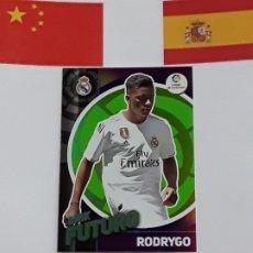 Cromos de Fútbol: MGK 2019 2020 MEGACRACKS 19 20 CROMO PANINI FUTURO N 403 REAL MADRID RODRIGO. Lote 180289740