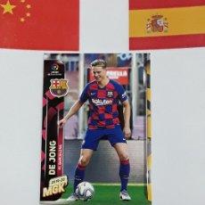 Cromos de Fútbol: MGK 2019 2020 MEGACRACKS 19 20 CROMO PANINI NUEVO FICHAJES N 408 BARCELONA DE JONG. Lote 180289778