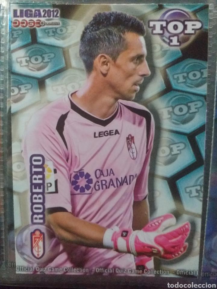FÚTBOL CROMO Nº 549 AZUL MATE ROBERTO GRANADA C.F. MUNDICROMO QUIZ GAME 2011 2012 (Coleccionismo Deportivo - Álbumes y Cromos de Deportes - Cromos de Fútbol)