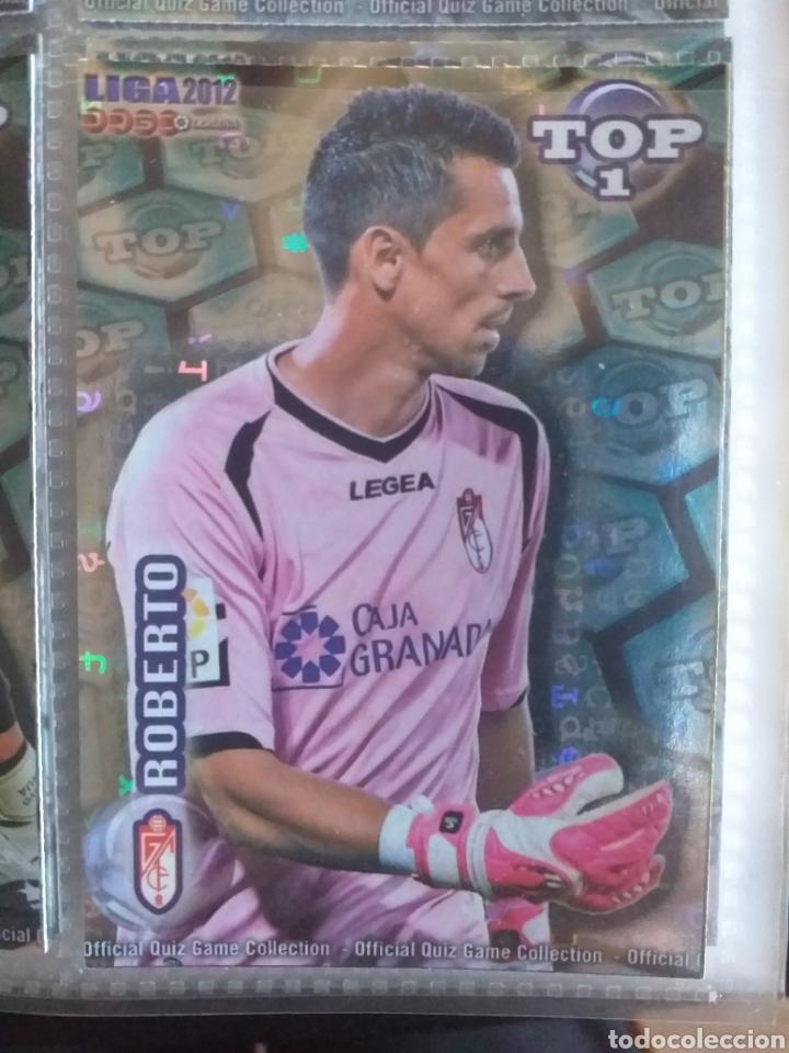 FÚTBOL CROMO Nº 549 AZUL LETRAS ROBERTO GRANADA C.F. MUNDICROMO QUIZ GAME 2011 2012 (Coleccionismo Deportivo - Álbumes y Cromos de Deportes - Cromos de Fútbol)
