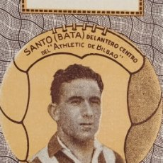 Cromos de Fútbol: SANTO (BATA)-ATHLETIC BILBAO-CROMO DE FUTBOL-REVERSO CARTA-VER FOTOS-(V-17.792). Lote 180422153