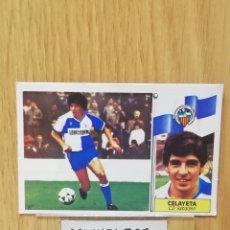 Cromos de Fútbol: ESTE LIGA 86 /87... FICHAJE N °24..CELAYETA... SABADELL.. NUNCA PEGADO.. SIN PEGAR.... Lote 180433568