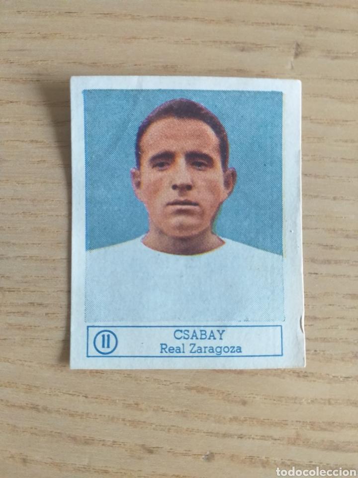 CROMO Nº 11 CSABAY REAL ZARAGOZA ÁLBUM ASES DEL FÚTBOL FERCA 1959 1960 (DESPEGADO) (Coleccionismo Deportivo - Álbumes y Cromos de Deportes - Cromos de Fútbol)