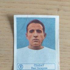 Cromos de Fútbol: CROMO Nº 11 CSABAY REAL ZARAGOZA ÁLBUM ASES DEL FÚTBOL FERCA 1959 1960 (DESPEGADO). Lote 180468440