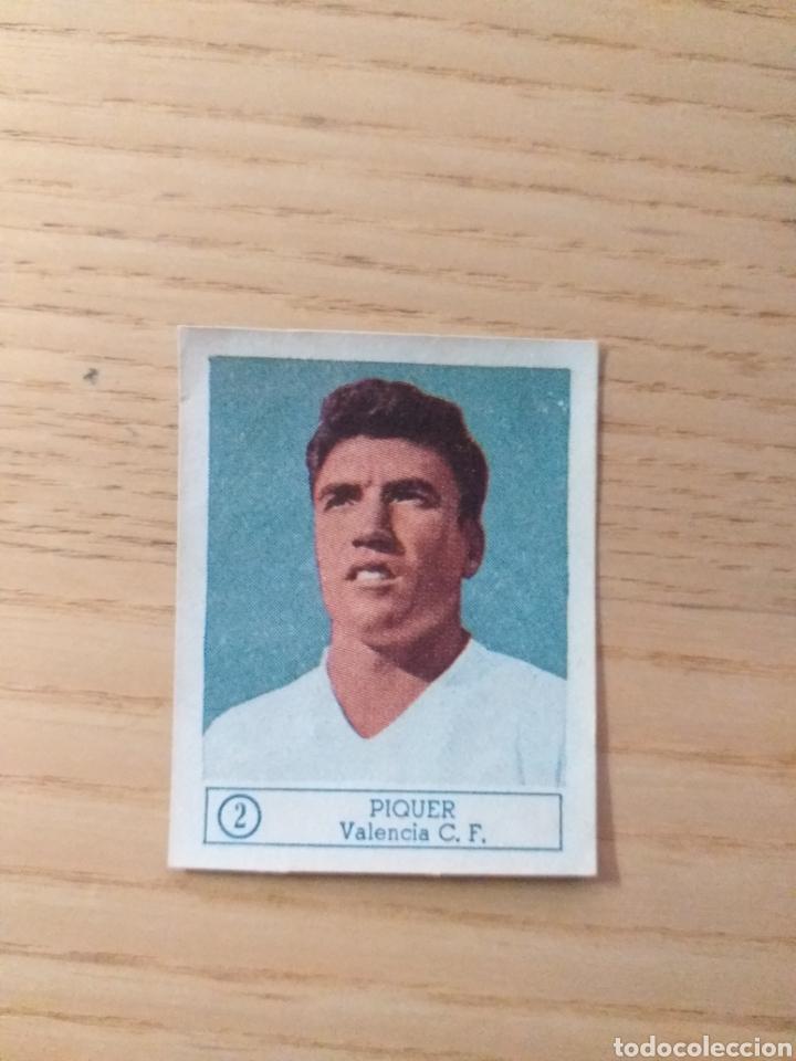 CROMO Nº 2 PIQUER ÁLBUM ASES DEL FÚTBOL FERCA 1959 1960 (DESPEGADO) (Coleccionismo Deportivo - Álbumes y Cromos de Deportes - Cromos de Fútbol)