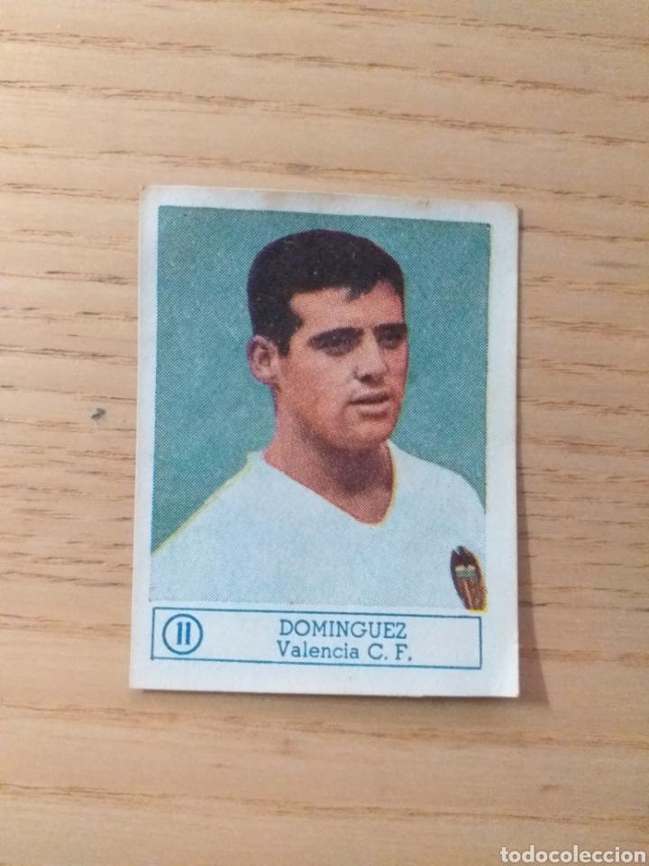 CROMO Nº 11 DOMÍNGUEZ VALENCIA C.F. ÁLBUM ASES DEL FÚTBOL FERCA 1959 1960 (DESPEGADO) (Coleccionismo Deportivo - Álbumes y Cromos de Deportes - Cromos de Fútbol)