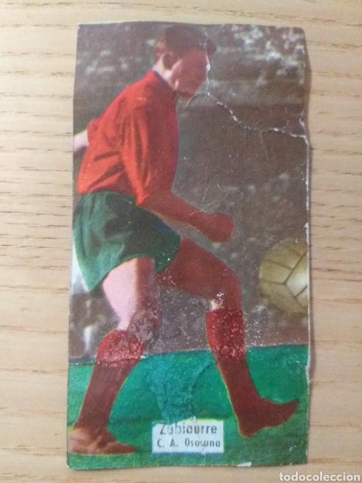 FÚTBOL CROMO ZUBIARRE C.A. OSASUNA ÁLBUM MAGOS DEL BALÓN TRIUNFO 1962 1963 DESPEGADO (Coleccionismo Deportivo - Álbumes y Cromos de Deportes - Cromos de Fútbol)