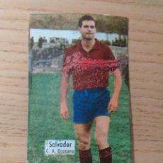 Cromos de Fútbol: FÚTBOL CROMO SALVADOR C.A. OSASUNA ÁLBUM MAGOS DEL BALÓN TRIUNFO 1962 1963 DESPEGADO. Lote 180517346