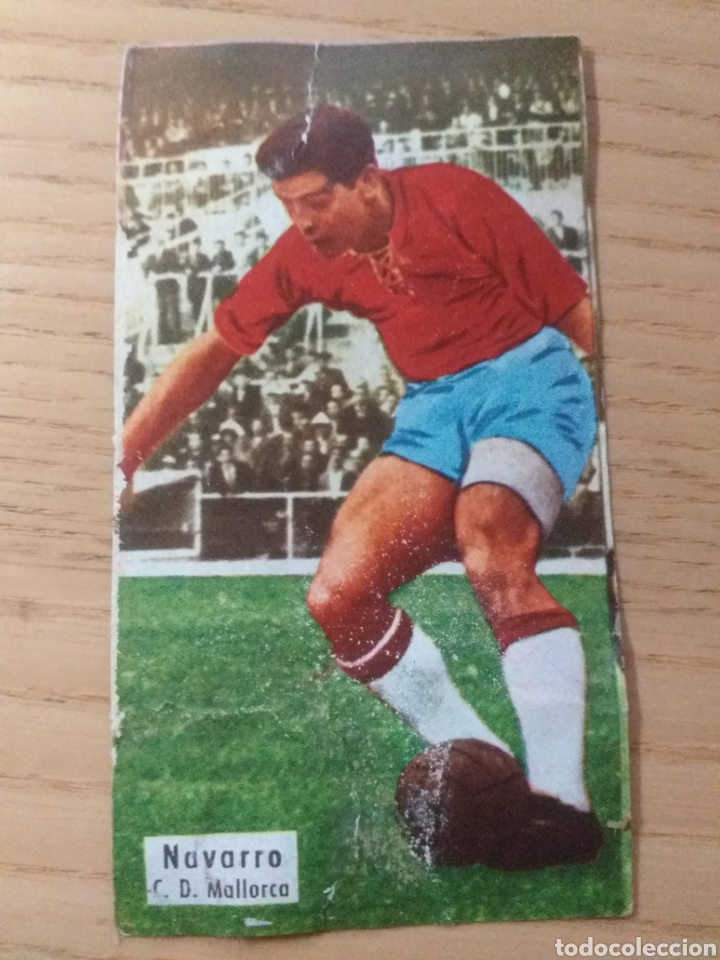 FÚTBOL CROMO NAVARRO R.C.D. MALLORCA ÁLBUM MAGOS DEL BALÓN TRIUNFO 1962 1963 DESPEGADO (Coleccionismo Deportivo - Álbumes y Cromos de Deportes - Cromos de Fútbol)