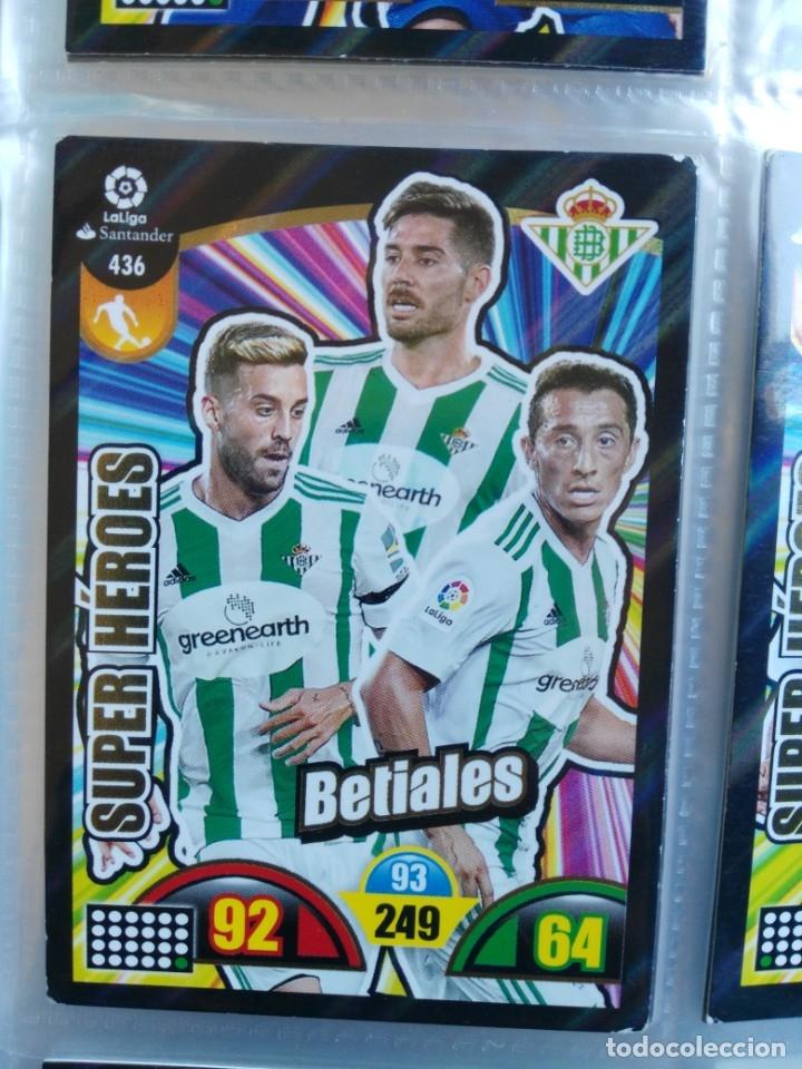 ADRENALYN XL 2017-2018 PANINI 2017-18 SUPER HEROES Nº 436 BETIALES (Coleccionismo Deportivo - Álbumes y Cromos de Deportes - Cromos de Fútbol)