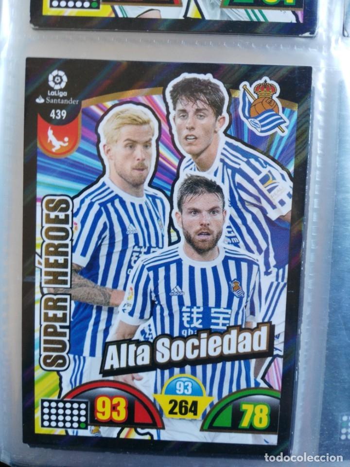 ADRENALYN XL 2017-2018 PANINI 2017-18 SUPER HEROES Nº 439 ALTA SOCIEDAD (Coleccionismo Deportivo - Álbumes y Cromos de Deportes - Cromos de Fútbol)