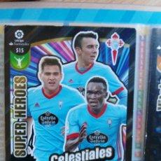 Cromos de Fútbol: ADRENALYN XL 2017-2018 PANINI 2017-18 NUEVO SUPER HEROES DE ORO Nº 515 CELESTIALES. Lote 181349317