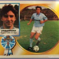 Cromos de Fútbol: LIGA ESTE 94-95. URIBARRENA (CELTA DE VIGO). NUNCA PEGADO. CROMO COLOCA. Lote 181351333