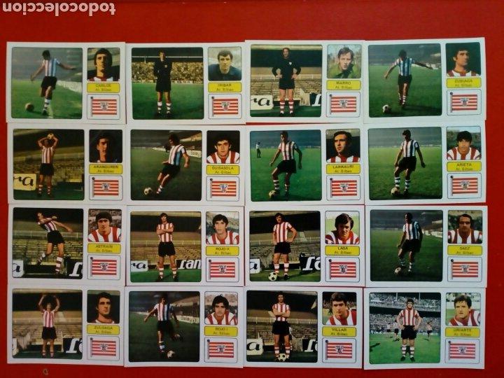 (SIN PEGAR) LOTE 16 CROMOS JUGADORES ATHLETIC CLUB DE BILBAO - FHER LIGA 73 - 74 / 1973 1974 (Coleccionismo Deportivo - Álbumes y Cromos de Deportes - Cromos de Fútbol)