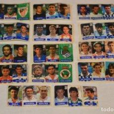 Cromos de Fútbol: OPORTUNIDAD, 42 CROMOS ADHESIVOS CHICLES CAMPEON / 14 TIRAS - AÑOS 90 - ¡MIRA! - LOTE 01. Lote 181423407