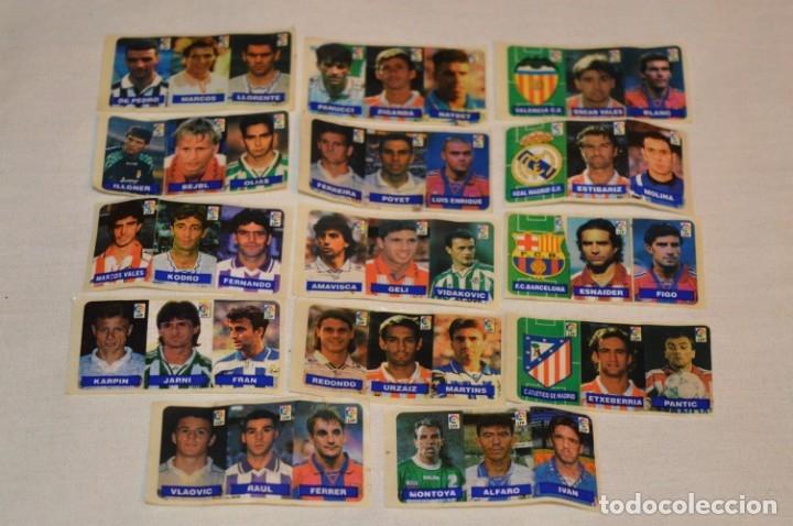 OPORTUNIDAD, 42 CROMOS ADHESIVOS CHICLES CAMPEON / 14 TIRAS - AÑOS 90 - ¡MIRA! - LOTE 03 (Coleccionismo Deportivo - Álbumes y Cromos de Deportes - Cromos de Fútbol)