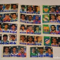 Cromos de Fútbol: OPORTUNIDAD, 42 CROMOS ADHESIVOS CHICLES CAMPEON / 14 TIRAS - AÑOS 90 - ¡MIRA! - LOTE 03. Lote 181425667