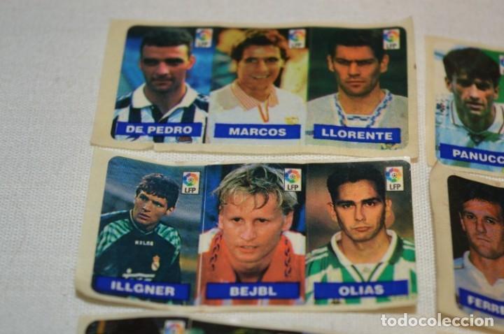 Cromos de Fútbol: Oportunidad, 42 Cromos adhesivos CHICLES CAMPEON / 14 tiras - Años 90 - ¡Mira! - Lote 03 - Foto 2 - 181425667