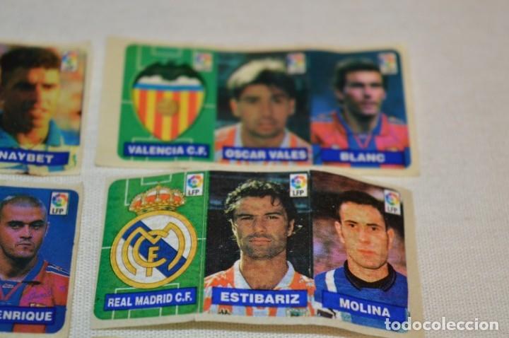 Cromos de Fútbol: Oportunidad, 42 Cromos adhesivos CHICLES CAMPEON / 14 tiras - Años 90 - ¡Mira! - Lote 03 - Foto 4 - 181425667