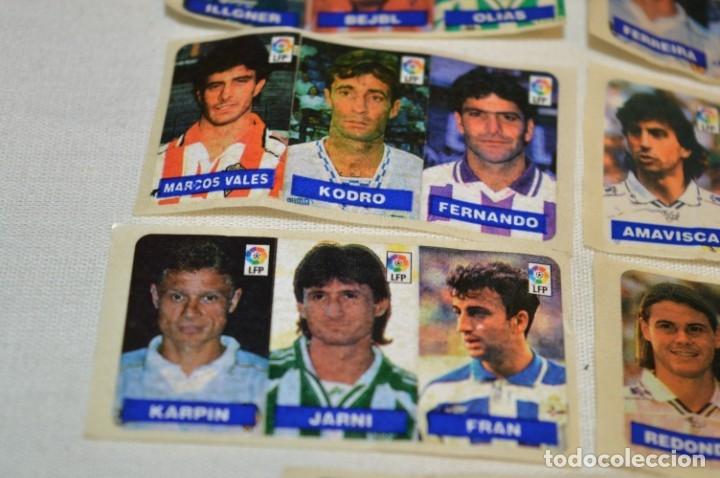Cromos de Fútbol: Oportunidad, 42 Cromos adhesivos CHICLES CAMPEON / 14 tiras - Años 90 - ¡Mira! - Lote 03 - Foto 5 - 181425667