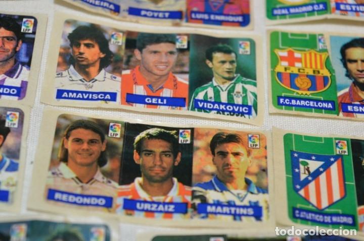 Cromos de Fútbol: Oportunidad, 42 Cromos adhesivos CHICLES CAMPEON / 14 tiras - Años 90 - ¡Mira! - Lote 03 - Foto 6 - 181425667