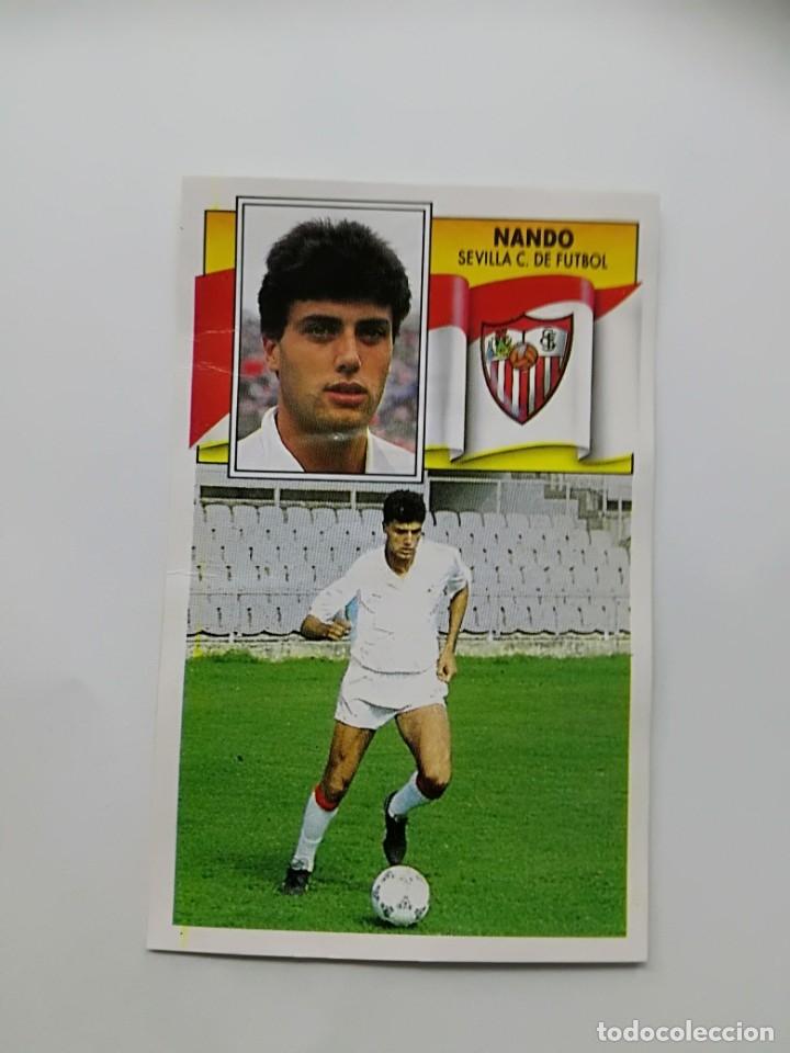 NANDO, BAJA SEVILLA CF, EDITORIAL ESTE 90/91, DESPEGADO (Coleccionismo Deportivo - Álbumes y Cromos de Deportes - Cromos de Fútbol)