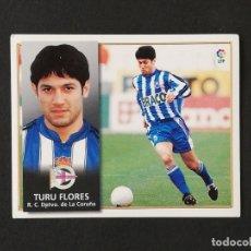 Figurine di Calcio: DEP TURU FLORES DEPORTIVO DE LA CORUÑA 1998 1999 98 99 EDICIONES ESTE SIN PEGAR NUNCA PEGADO. Lote 181606791