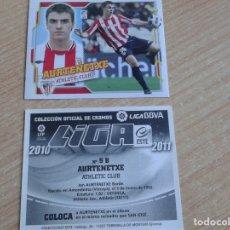 Cromos de Fútbol: EDICIONES ESTE 2010-2011 10 11 AURTENETXE (ATHLETIC BILBAO) COLOCA SIN PEGAR. Lote 181670626