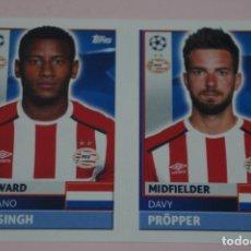 Cromos de Fútbol: CROMO DE FÚTBOL NARSINGH PRÖPPER DEL PSV EINDHOVEN SIN PEGAR Nº 14-15 CHAMPIONS LEAGUE 16-17. Lote 269165728