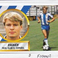 Cromos de Fútbol: ESTE 88-89 - ESCAICH *FICHAJE Nº 3* - (RECORTADO,DESPEGADO). Lote 181899846