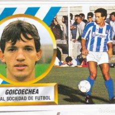 Cromos de Fútbol: ESTE 88-89 - GOICOECHEA *FICHAJE Nº 5* - (RECORTADO,DESPEGADO). Lote 181899970
