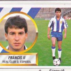 Cromos de Fútbol: ESTE 88-89 - FRANCIS II *FICHAJE Nº 9* - (RECORTADO,DESPEGADO). Lote 181900571