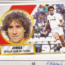 Cromos de Fútbol: ESTE 88-89 - ZUÑIGA *FICHAJE Nº 15* - (RECORTADO,DESPEGADO). Lote 181900967