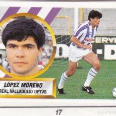 Cromos de Fútbol: ESTE 88-89 - LOPEZ MORENO *FICHAJE Nº 17* DIFICIL - (RECORTADO,DESPEGADO). Lote 181901110