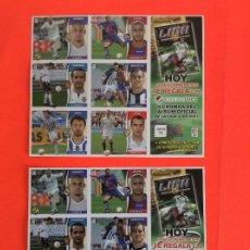 Cromos de Fútbol: ESTE -2006-2007 - LAMINAS DE CROMOS Nº 7 Y Nº 11 CON ERROR LEER DETALLES. Lote 182069451
