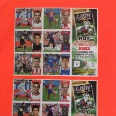 Cromos de Fútbol: ESTE -2006-2007 - LAMINAS DE CROMOS Nº 6 Y Nº 10 MISMOS CROMOS CON ERROR. Lote 182069821